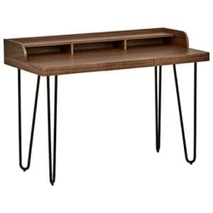 Rivet Modern Wood and Metal Hairpin Mid-Century Modern Office Desks