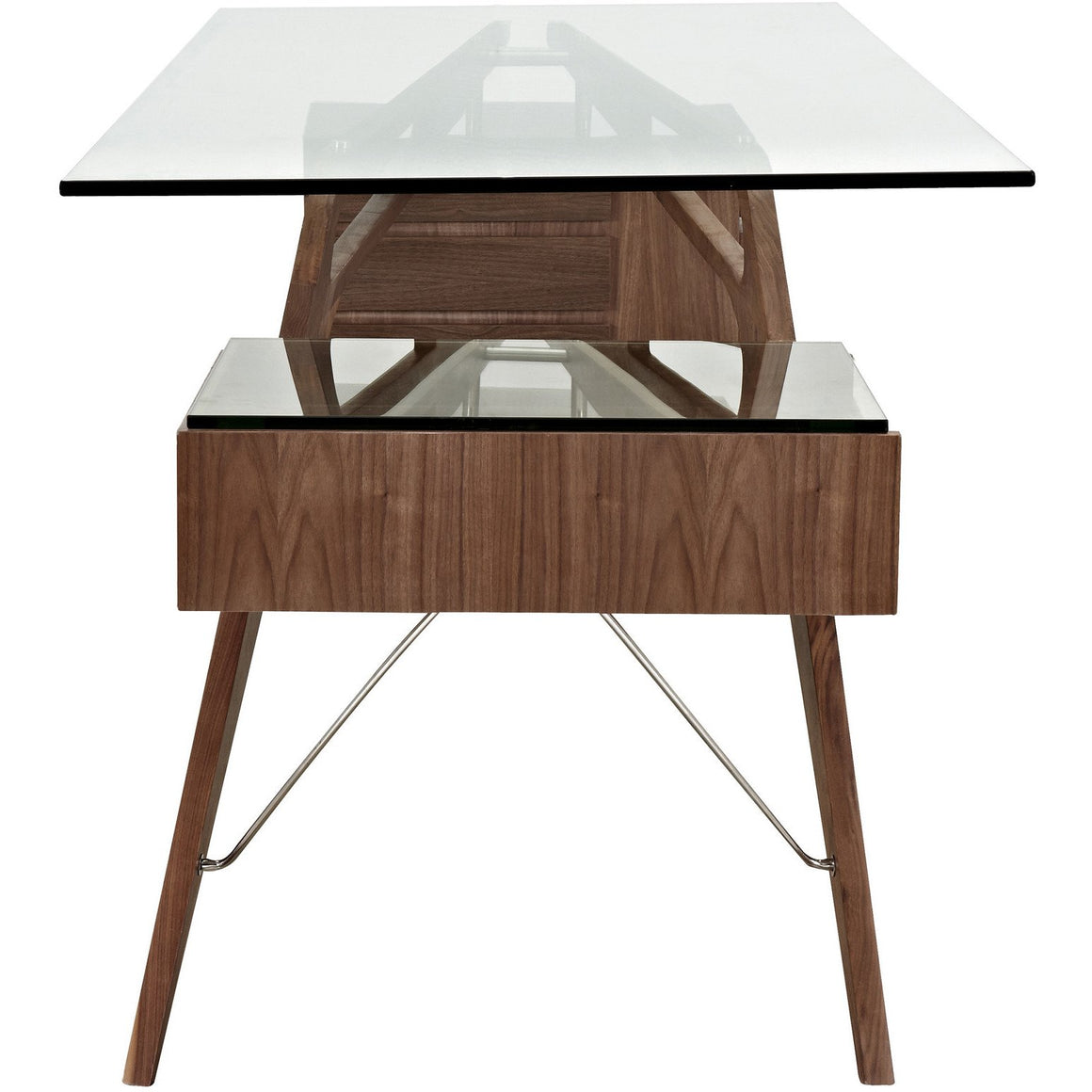 Carlo Mollino Style Cavour Desk Walnut Office Desks Free Shipping
