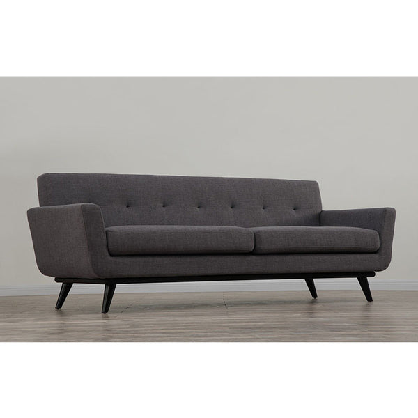 Queen Mary Grey Linen Sofa - living-essentials