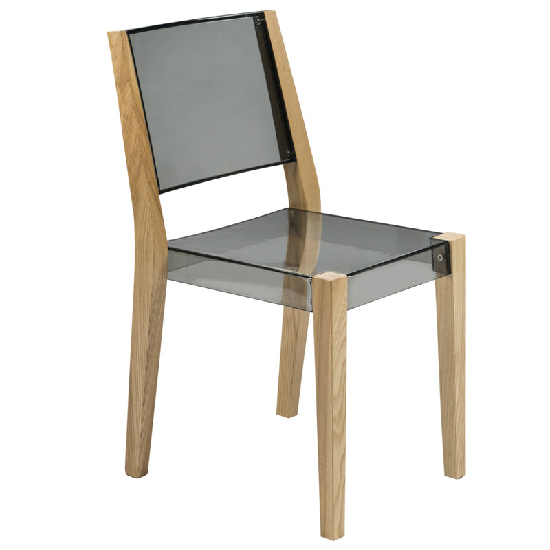 Bastian Black Wooden Frame Dining Chair - living-essentials