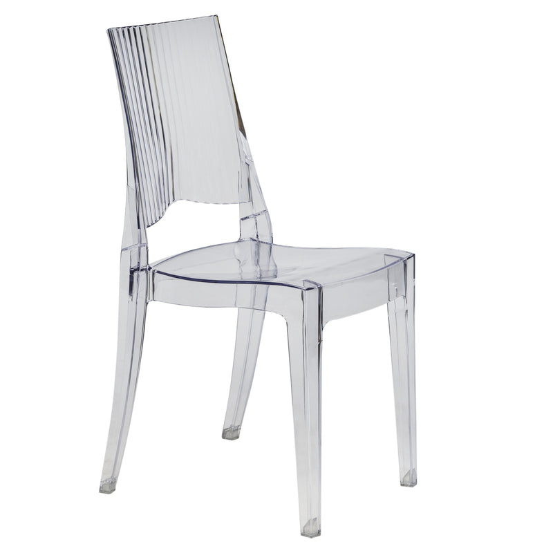 Cohen Clear Modern Dining Chair - living-essentials