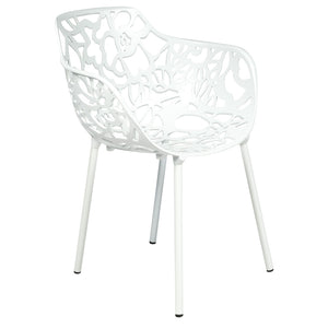 Desire White Aluminum Side Armchair
