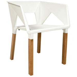 Elwood White Accent Chair