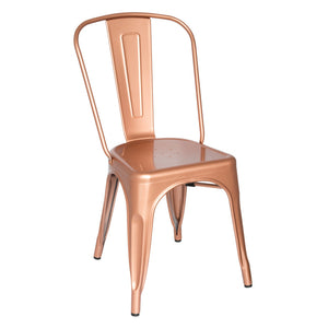Tolix Style Indoor/outdoor Dining Chair 34H X 18W 18D / Copper Chairs Free Shipping