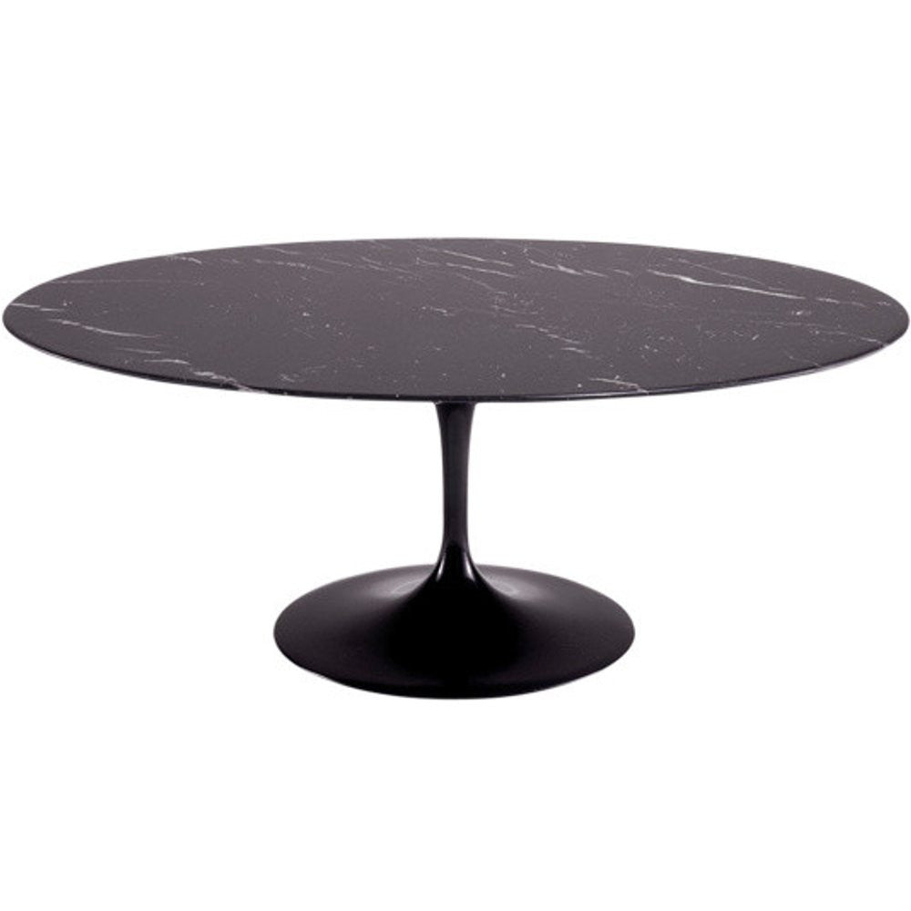 Saarinen Style 78 Quot Tulip Oval Real Marble Dining Table
