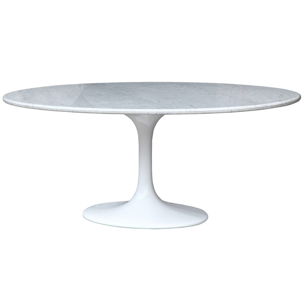 Oval marble dining table -  Tulip Style 78 Oval Full Marble Dining Table Emfurn 5