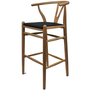 Hans J Wegner Style Elbow Counter Stool Natural Stools Free Shipping