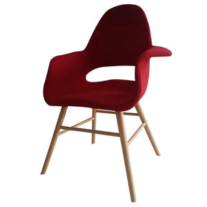 Saarinen Style Wooden Legged Executive Dining Side Armchair Chairs Free Shipping