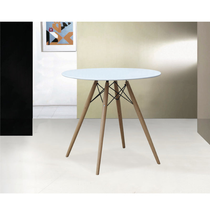 "Emfurn Eiffel Style 29"" White Fiberglass Top Dining Table - living-essentials"