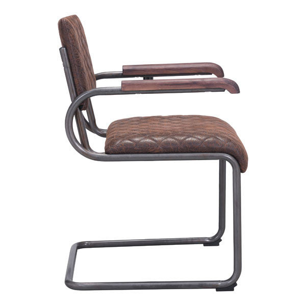Fred Vintage Brown Dining Armchair - living-essentials