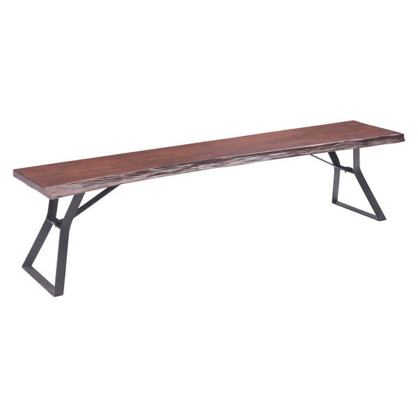Nebraska Distressed Cherry Oak Bench - living-essentials