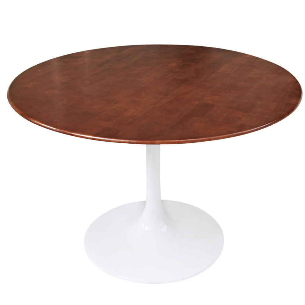 Tulip Style 30 Walnut Dining Table Free Shipping