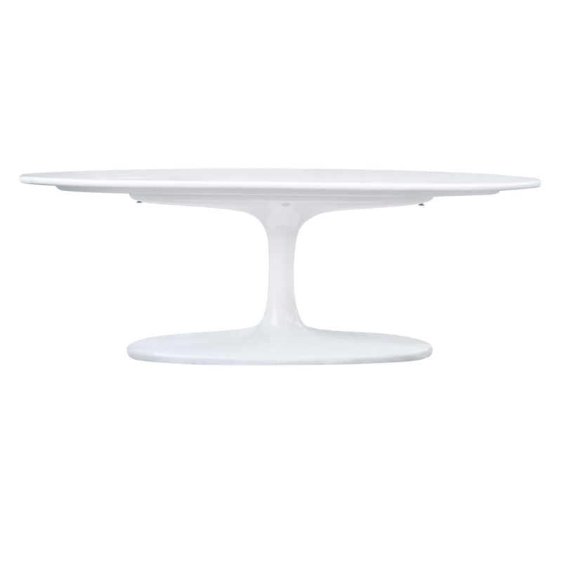 "Tulip Style 48"" Oval Fiberglass Coffee Table - living-essentials"