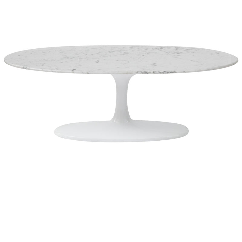 "Tulip Style 48"" Oval Marble Coffee Table - living-essentials"
