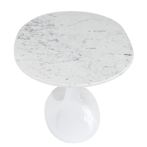 Tulip Style 48 Oval Marble Coffee Table Free Shipping