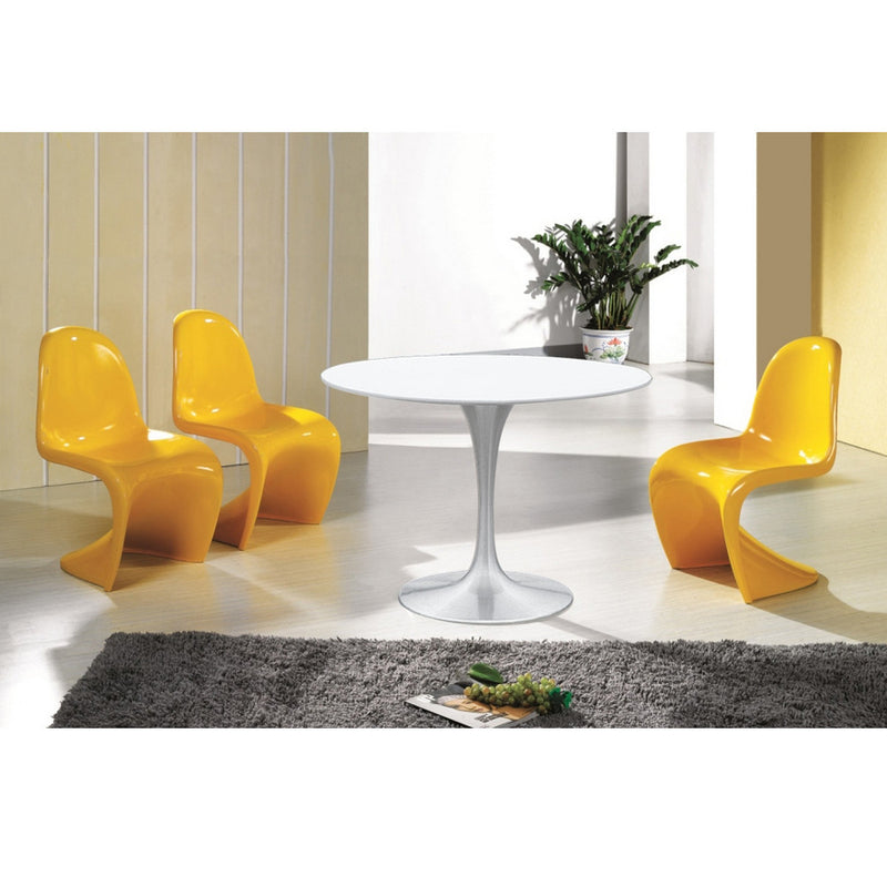 Tulip Style Silver Dining Table - living-essentials