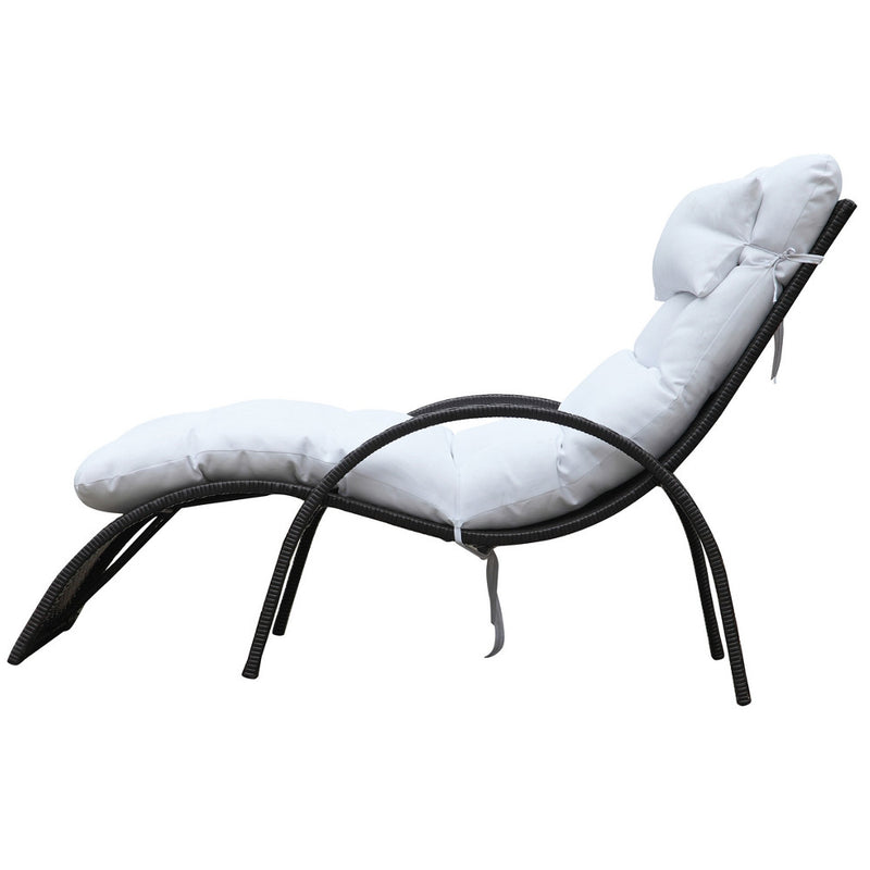 Winter White Outdoor Chaise Lounge - living-essentials