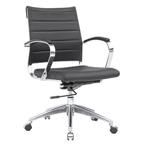 Sofia Mid Back Conference Office Chair 38H X 25W 24D / Black Chairs Free Shipping