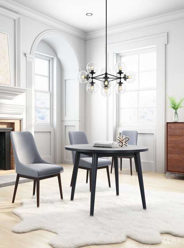 Rave Black Round Dining Table - living-essentials