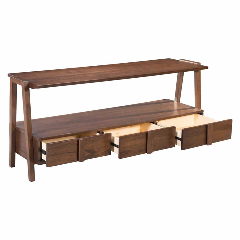 Griffin Walnut Media Console Table - living-essentials