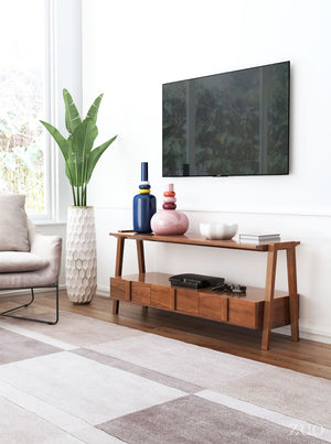 Griffin Walnut Media Console Table