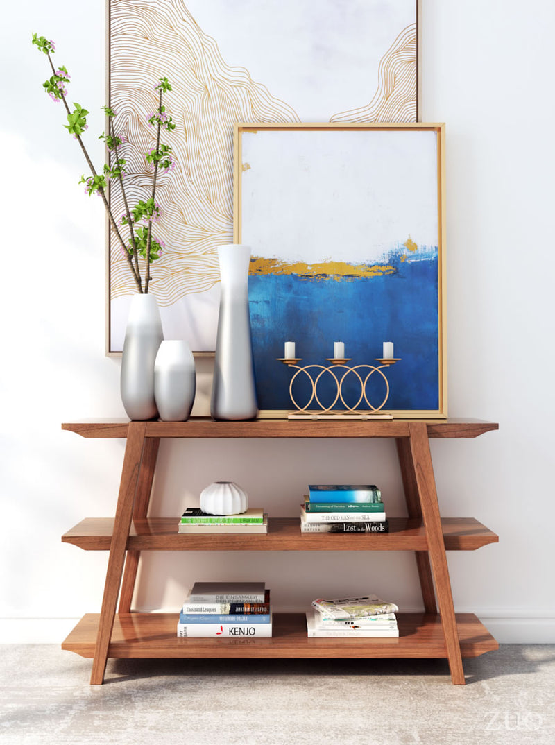 Griffin Walnut Console Table - living-essentials