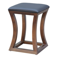 Loraine Walnut Stool - living-essentials