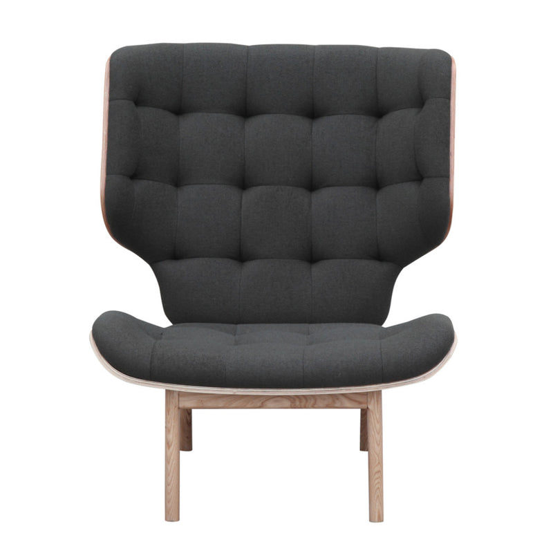 Wolf Grey Mid Century Winged Lounge Chair - living-essentials