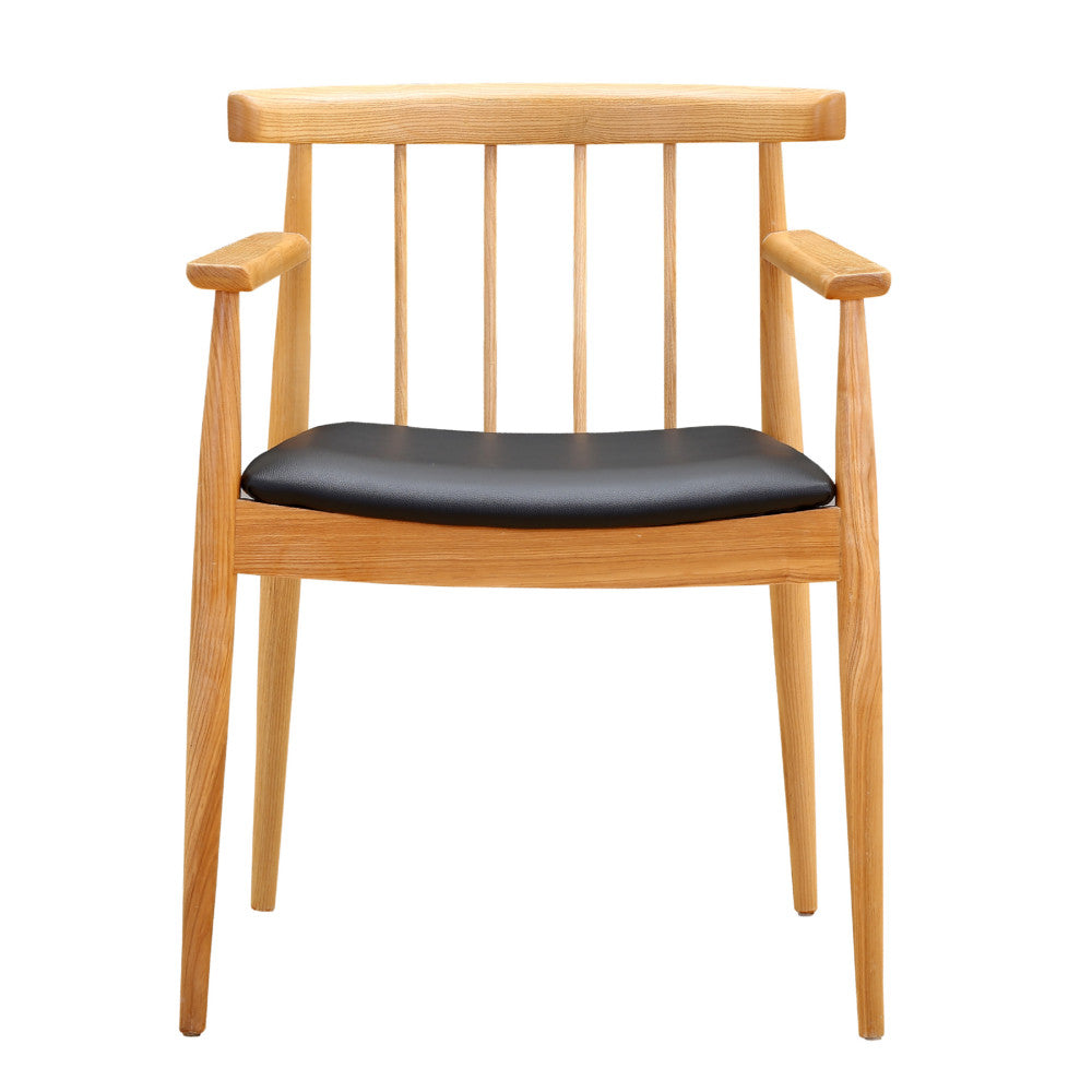 Lean black dining arm chair emfurn for Black dining chairs with arms