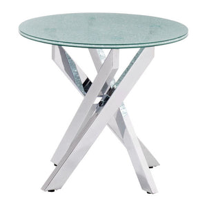 Angle Crackled Side Table Free Shipping