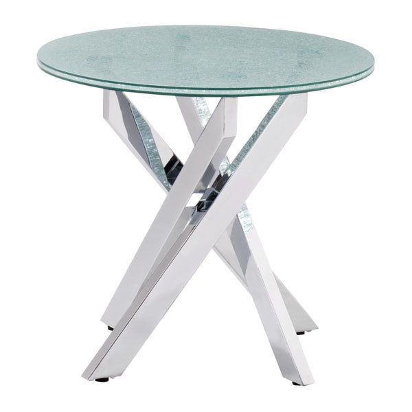 Angle Crackled Side Table - living-essentials
