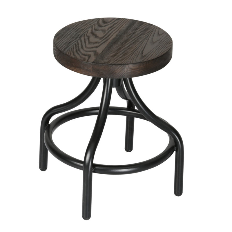 Atlantis Rustic Walnut Stool - living-essentials
