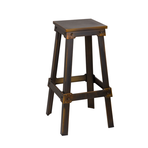 Foyer Copper Bar Stool - living-essentials
