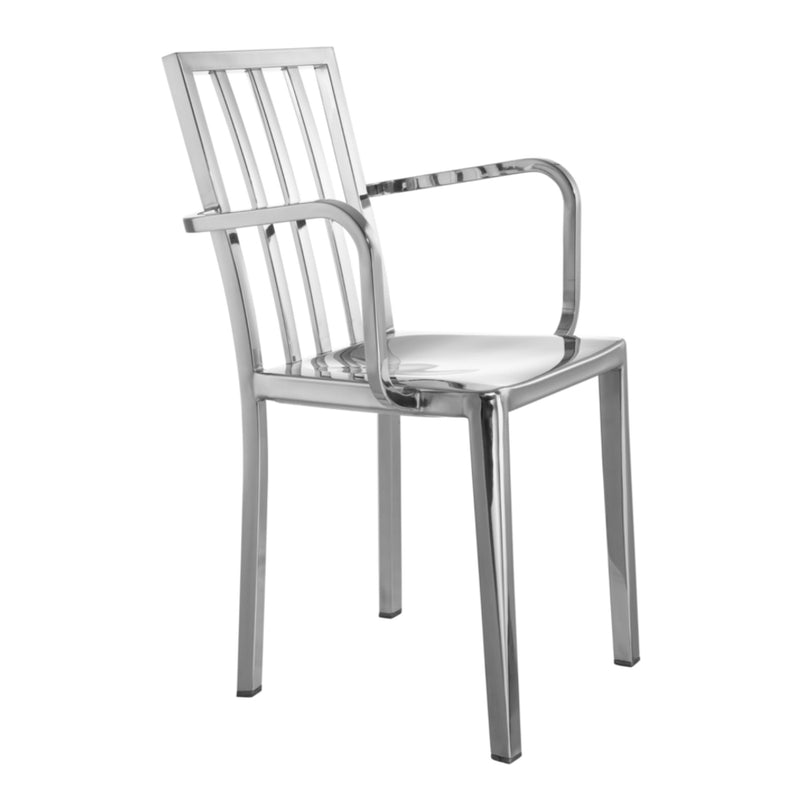 Esmond Steel Dining Arm Chair - living-essentials
