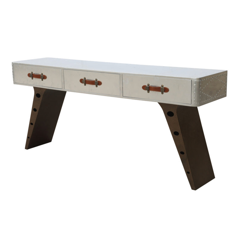 Phantom White Aviator Office Desk - living-essentials