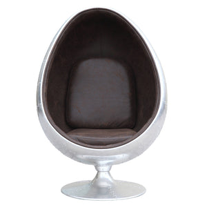 Egg Pod Style Silver Aviator Lounge Chair Chairs Free Shipping
