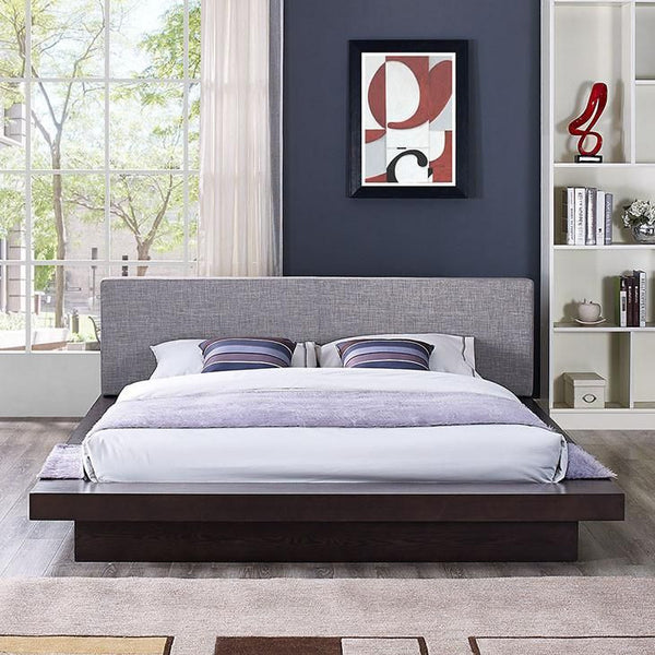Oslo Queen Fabric Platform Bed - living-essentials