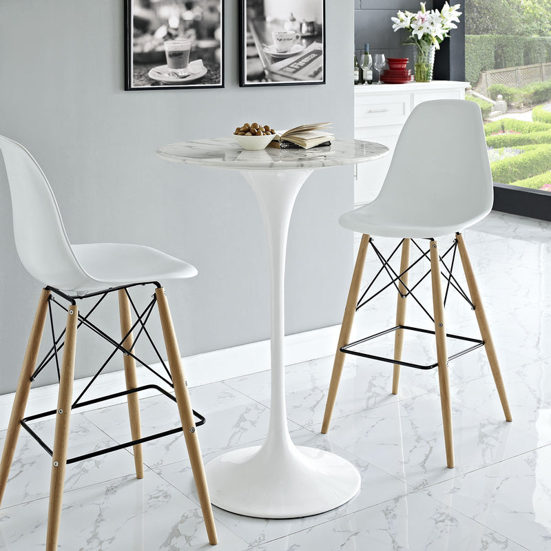 "Tulip Style 28"" Marble Bar Table - living-essentials"