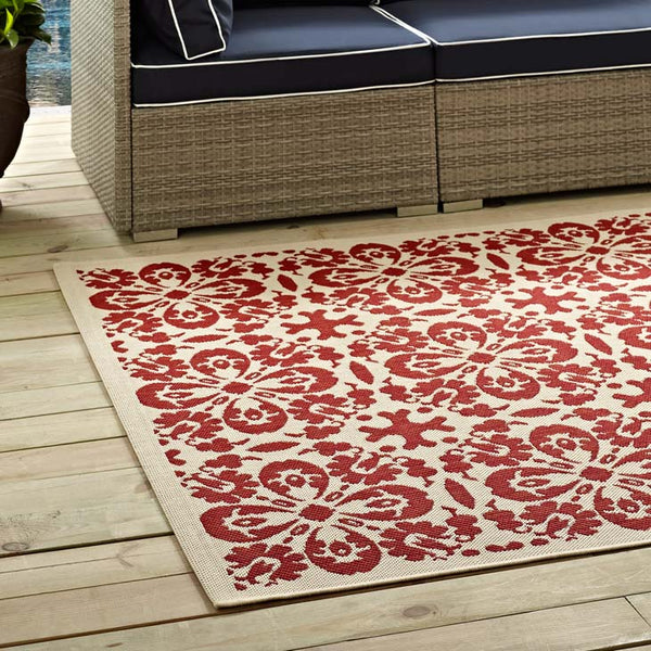 Arizona Vintage Floral Trellis 8x10 Indoor and Outdoor Area Rug - living-essentials