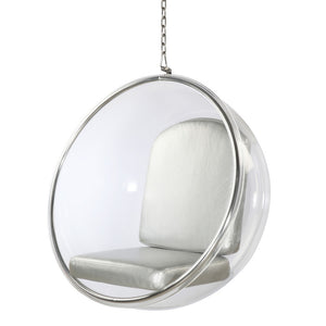 Eero Aarnio Style Bubble Hanging Chair 42H X 41W 32D / Black Chairs Free Shipping
