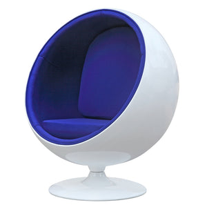 Eero Aarnio Style Kids Ball Lounge Chair Blue Free Shipping