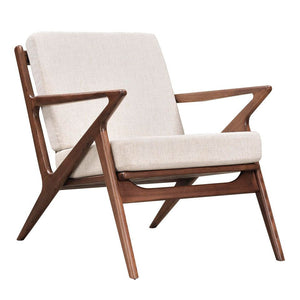 Poul Jensen Style Oatmeal Gray Selig Z Chair Walnut Chairs Free Shipping