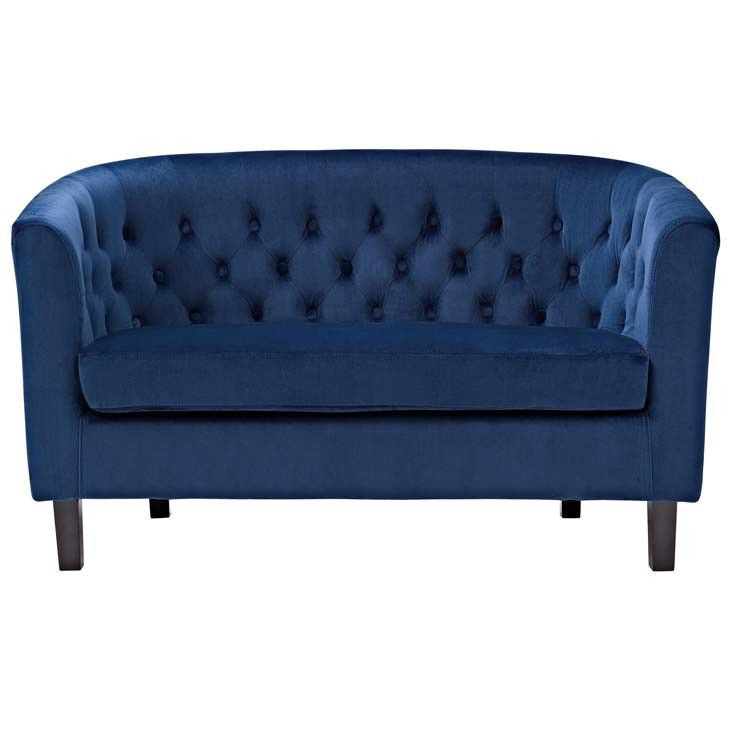 Freya Velvet Loveseat - living-essentials