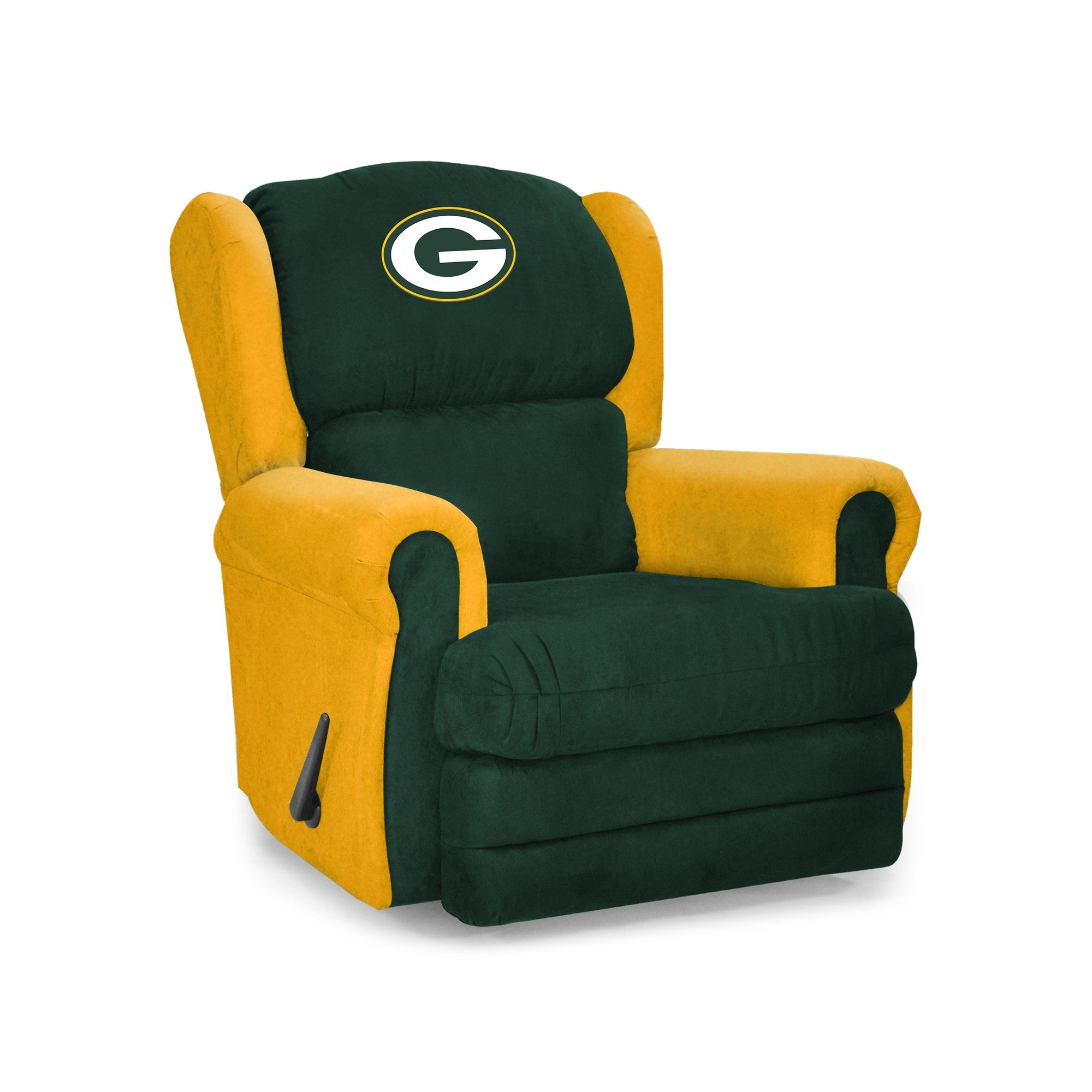 Fine Green Bay Packers Big Tall Coach Recliner Evergreenethics Interior Chair Design Evergreenethicsorg