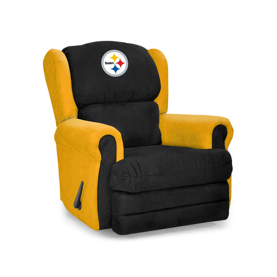 Astonishing Pittsburgh Steelers Big Tall Coach Recliner Machost Co Dining Chair Design Ideas Machostcouk