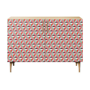 Vibrant Tessellation Credenza Natural/natural / Dowell Cabinet Free Shipping