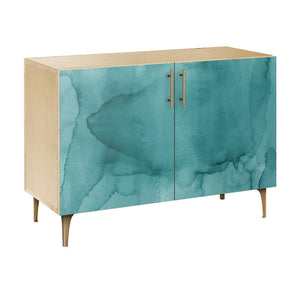 Pacific Waters Credenza Natural/natural / Dowell Cabinet Free Shipping