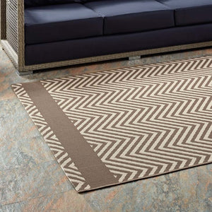 Opulence Chevron With End Borders 5X8 Indoor And Outdoor Area Rug Rugs Free Shipping