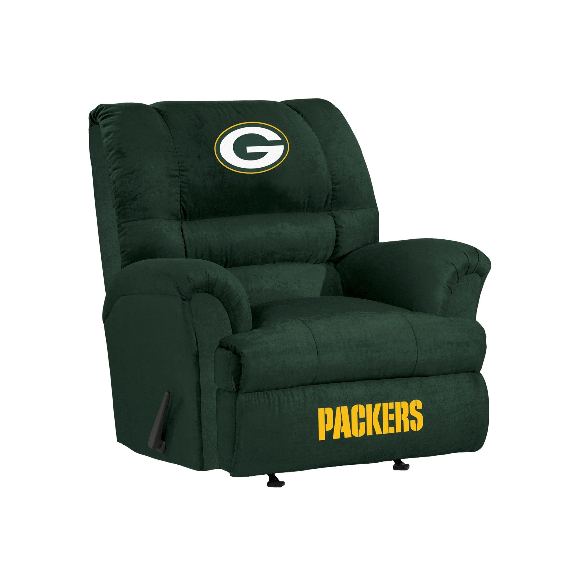 Fine Green Bay Packers Big Tall Microfiber Recliner Evergreenethics Interior Chair Design Evergreenethicsorg