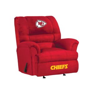Kansas City Chiefs Big & Tall Microfiber Recliner - living-essentials